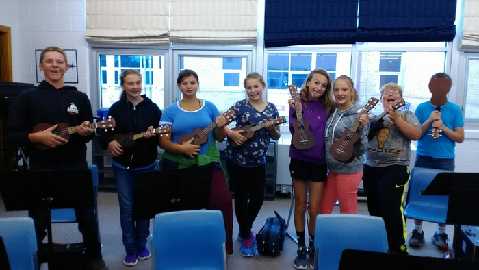 ukulele time for Junior High band.