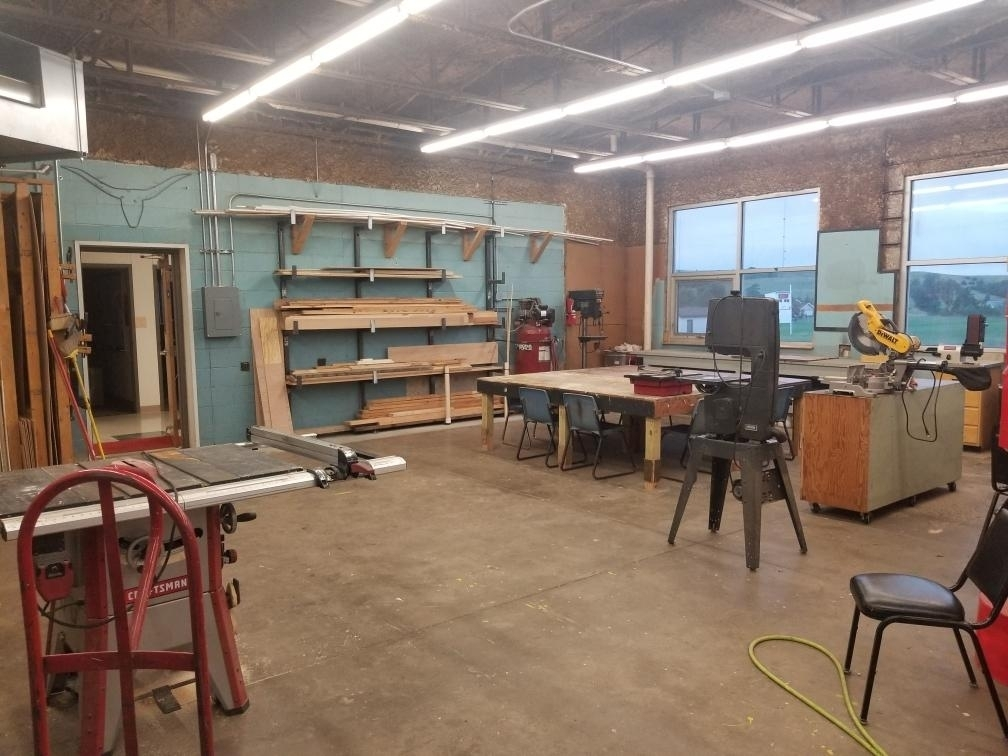 The woodshop is ready for the kids in the 2019-20 school year