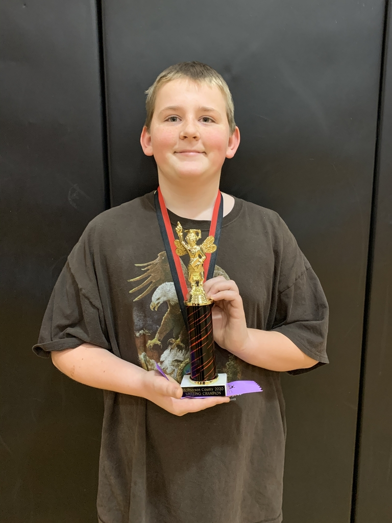 McPherson County Spelling Bee champion